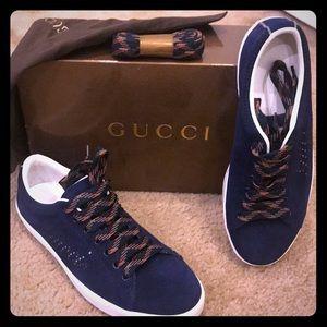Blue Suede GUCCI tennis shoes